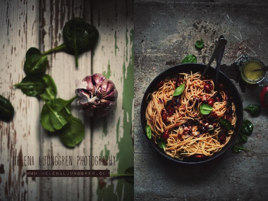 vitlök med pasta
