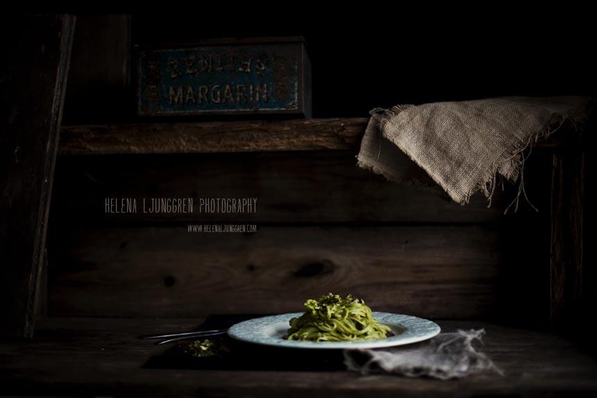 grön pasta